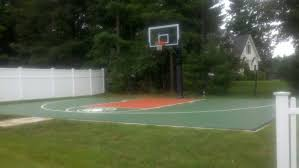 an angle photo of the hercules diamond basketball system on a