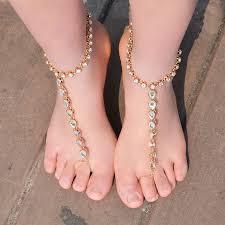 barefoot sandals anklet bracelet for women rhinestone barefoot