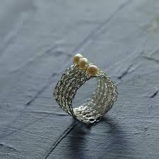 silver wire rings images Silver pearl ring pearl jewelry wire crochet jewelry water jpeg