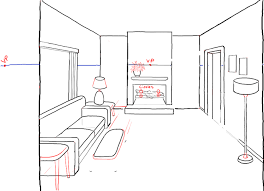 draw room how to draw a room with perspective drawing tutorial of a living