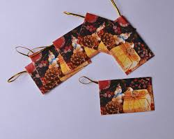 6pcs snowman pattern greeting cards girls boys kids christmas gift
