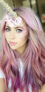 Halloween Unicorn Costume Unicorn Pink Hair Lilac Hair Candy Floss Hair Unicorn
