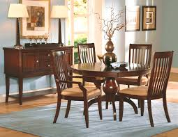 Round Formal Dining Room Sets Furniture Personable Original Brandt Dark Cherry Wood Dining