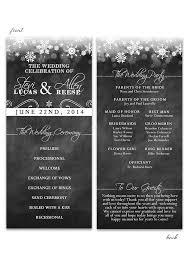 black and white wedding programs winter chalkboard wedding program black lot paperie