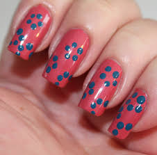 day five of the seven days of floral nail art tutorials dots