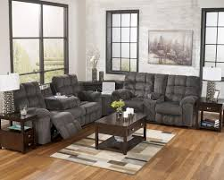End Table Charging Station by Reclining Sectional Sofa With Right Side Loveseat Cup Holders And