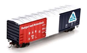 box car train athearn ho 29345 50 u0027 acf box car bangor and aroostook 5924