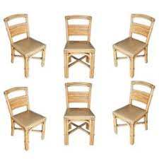 rattan dining room chairs 75 for sale at 1stdibs