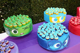 inside out cakes inside out party theme ideas you can use for the of pixar