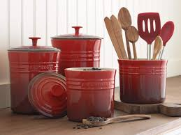 decorative kitchen canisters glass decoration furniture image of red decorative kitchen canisters