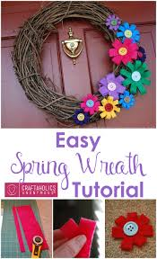 craftaholics anonymous colorful spring wreath tutorial