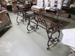 Wrought Iron Dining Room Table Base Discountmaxodermcom - Dining room table base