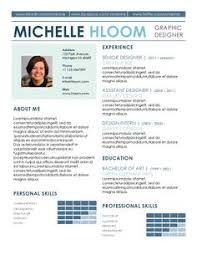Template For Resume In Word Leaflet Free Resume Template By Hloom Com Cv Pinterest