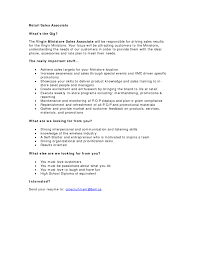Sample Resume Objectives In Retail by Sample Resume Of Retail Sales Associate Gallery Creawizard Com