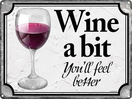 wine a you ll feel better wine tin signs posters buy online at popartuk