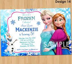 Sample Of 7th Birthday Invitation Card Frozen Invitation Disney Frozen Invitation Printable