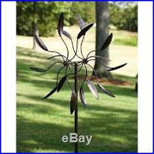 statues and sculptures spinning metal yard decor wind spin pin