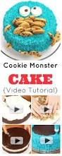 cookie monster cake video tutorial how to make a super silly