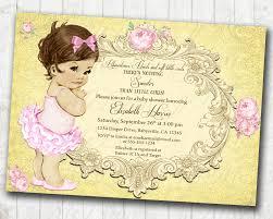 princess baby shower invitation baby shower invitation floral