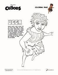 ugga croods coloring pages hellokids com