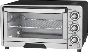 Toaster With Clear Sides Cuisinart Custom Classic Toaster Oven Broiler Silver Tob 40 Best Buy