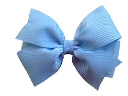 blue bows 4 inch light blue hair bow light blue bow pinwheel bows