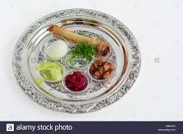 seder meal plate passover seder plate with the seventh symbolic item used during