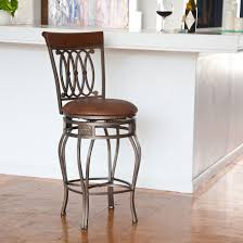 Leather Bar Stools With Back Furniture Wrought Iron Counter Stools With Carved Back And Brown