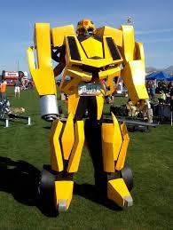 Bumblebee Transformer Halloween Costume 10 Foot Tall Flamethrowing Transformers Bumblebee Costume