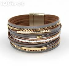 metal bracelet images Quality multilayer jewelry leather women metal bracelet for sale jpg