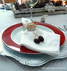 how to set a table with napkin rings how to make birch napkin rings woodland table decor an