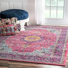 Boho Area Rugs Nuloom Opal Persian Pink Bohemian Area Rug Persian Contemporary