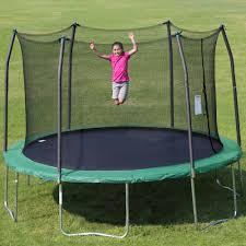 Safest Trampoline For Backyard by Skywalker Trampolines 12 U0027 Round Trampoline And Safety Enclosure