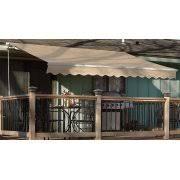 12 u0027x10 u0027 manual retractable patio awning outdoor sun shade canopy