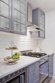 ikea kitchen cabinets glass gray ikea kitchen cabinets with white beveled subway tile