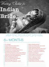 Indian Wedding Planners Nj Indian Wedding Checklist For The Bride Indian Bridal Checklist