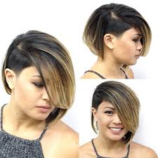asymetrical ans stacked hairstyles women s asymmetric inverted bob with side swept bangs and undercut