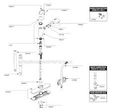 Replacing Moen Kitchen Faucet Cartridge Kitchen Faucet Moen Repair Lovely Moen 7560c Parts List And