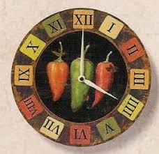Chili Pepper Home Decor Chili Pepper Decor Chili Peppers Wall Clock Rustic Home