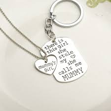 necklace key ring images Personalized alphabet necklaces key ring mother 39 s day gift have jpg