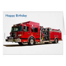 fire engine birthday greeting cards zazzle