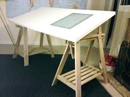 Drafting Tables Ikea Drafting Desks Ikea Trestle Table Desk Drawing Board With Light