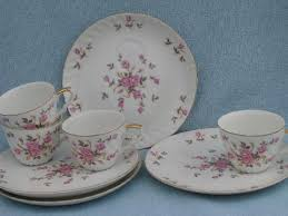 vintage china with pink roses lefton japan vintage painted china pink roses snack sets