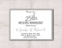 simple 25th anniversary invitation cards 58 with additional hello