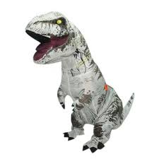 Rex Halloween Costumes Inflatable Dinosaur Rex Jumpsuit Blow Halloween Costume