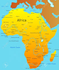 africa continent map abstract map of africa continent stock photo picture and royalty