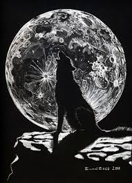 wolf howling at moon by wingmind on deviantart