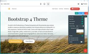 themes builder 2 0 free bootstrap 4 template 2018