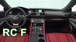 2016 lexus rc f 2017 lexus rc f interior youtube