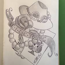one piece tattoo picture tattoo one piece if i die young by thefighterwhodreams on deviantart
